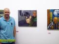 Autorretratos de un alumno del curso de Pintura impartido por Miguel Angel Brito Lorenzo