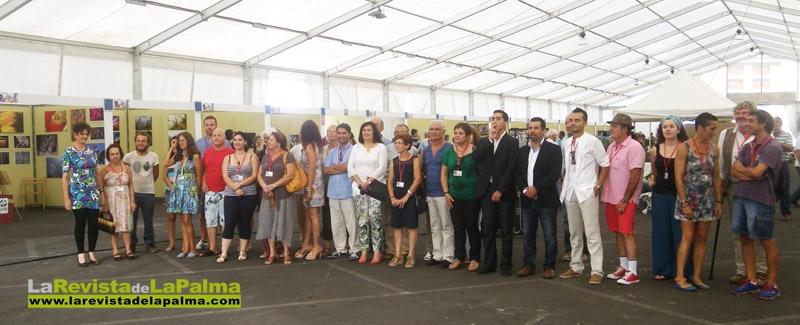 Los participantes en el momento de la inauguración