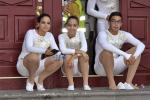 Acrobatas Bajada de La Virgen 2015 esperando la senal