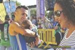 Reventon Trail 2016 Miguel Angel Vaquero ganador Sprint Race con su familia