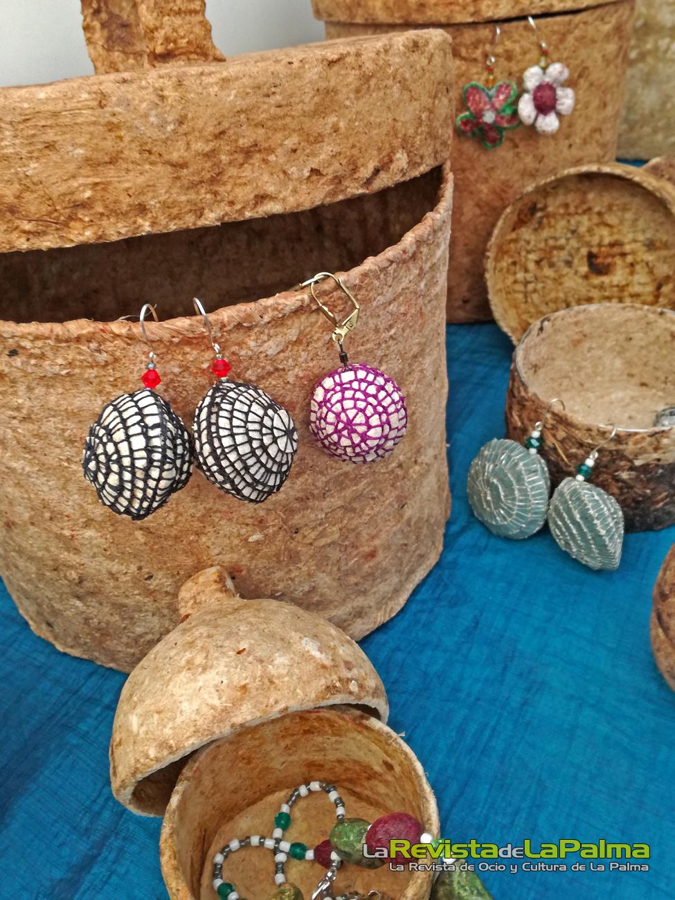 Feria Insular Artesania Puntallana Cajas artesanales de fibras naturales