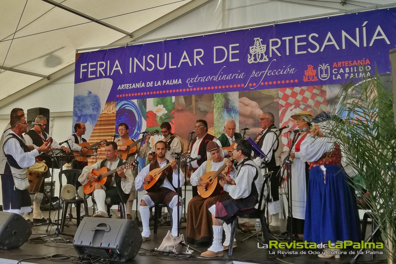 Feria Insular Artesania Puntallana actuaciones Agrupacion Volcan de San Juan