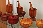 Feria Insular Artesania Puntallana piezas Pedro Isidro Mazo morteros y joyeros